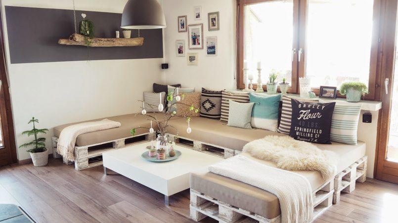decorar un salón de palets
