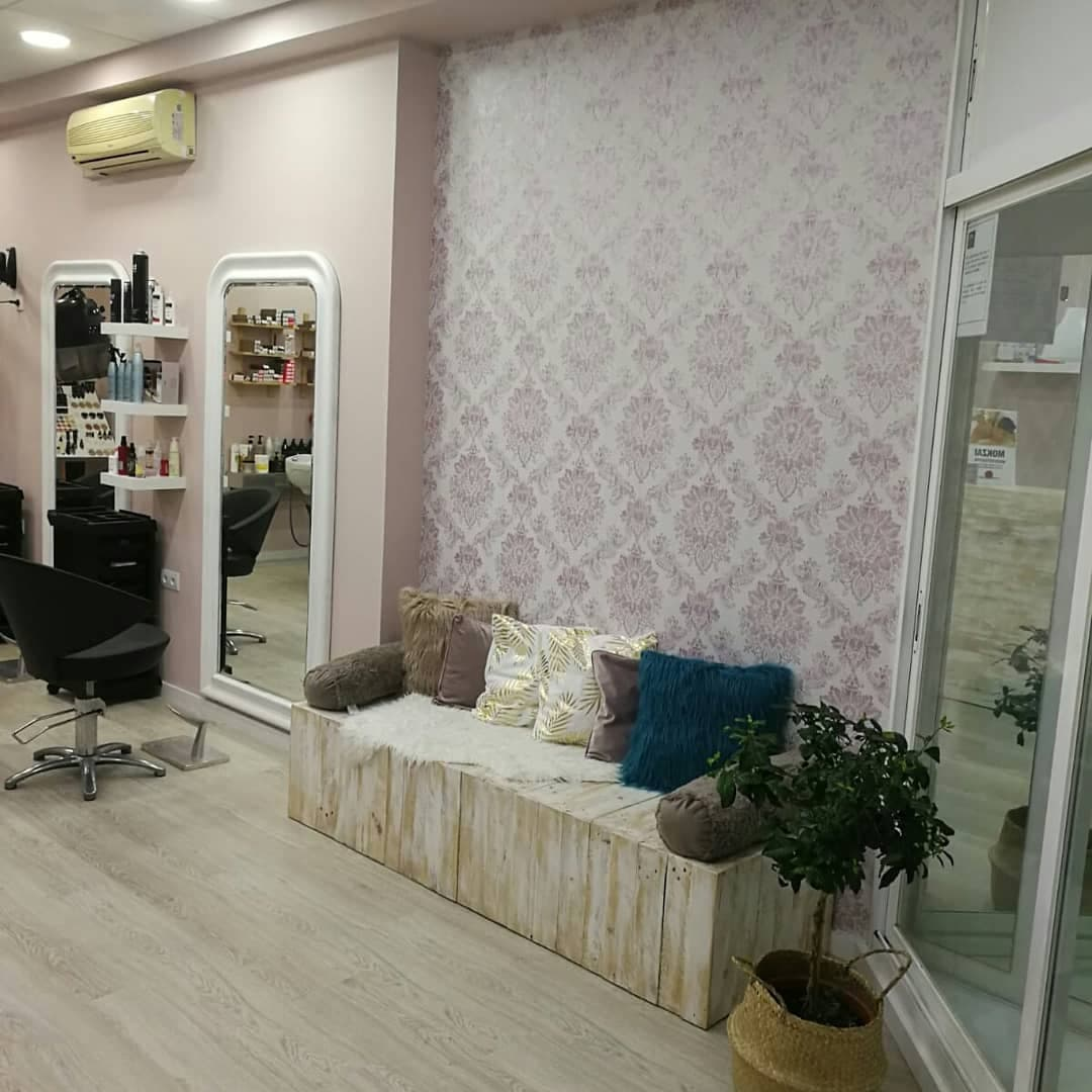 muebles de palet para peluquería