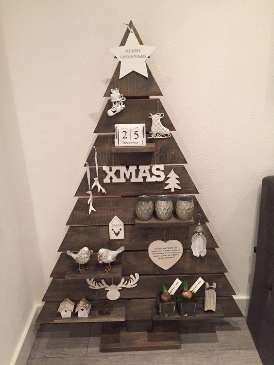 hacer árbol de navidad con palets