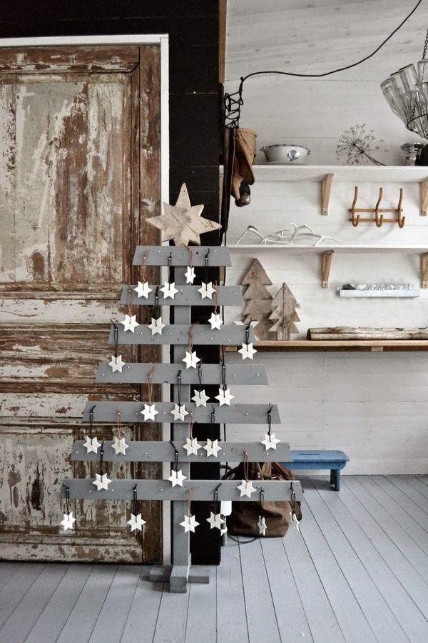 hacer un árbol de navidad con palets