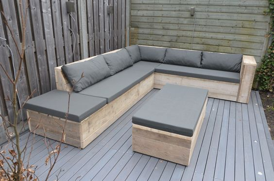 muebles con palets para terrraza