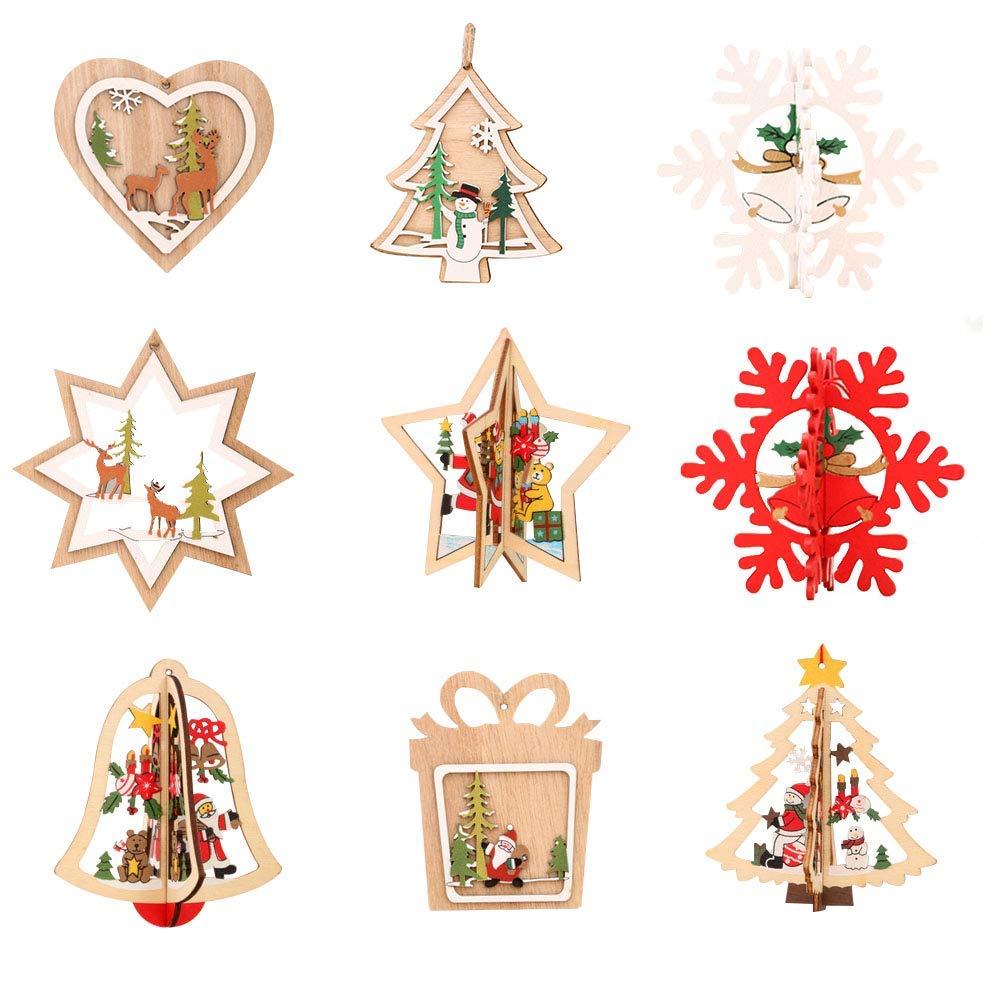 decoracion navideña en madera