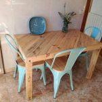 mesa con palets para la cocina