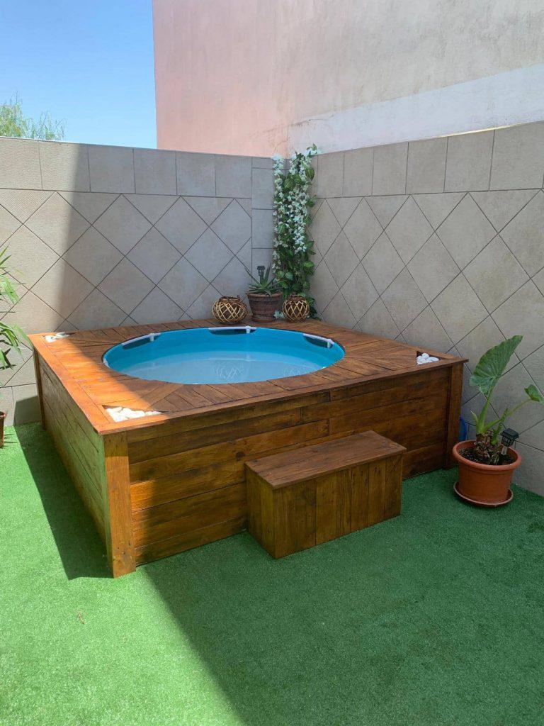 piscina con palets