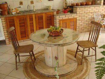 mesa para la cocina de bobina de cable