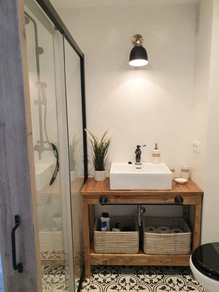 mueble para lavabo con palets