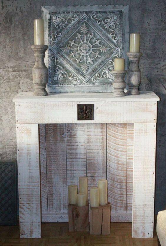 chimeneas decorativas con palets