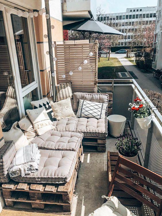 ideas para decorar una terraza con palets