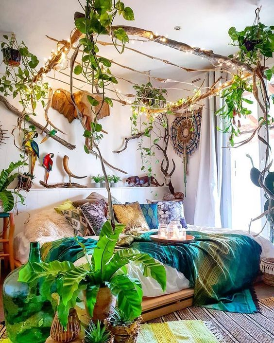 decoración para un dormitorio con palets