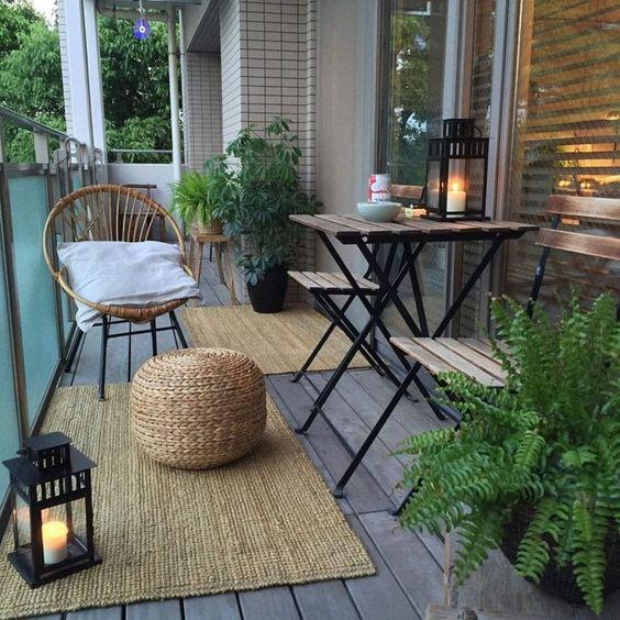 palets en la terraza