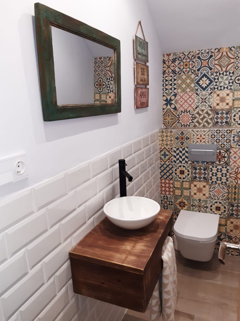 lavabo con palets