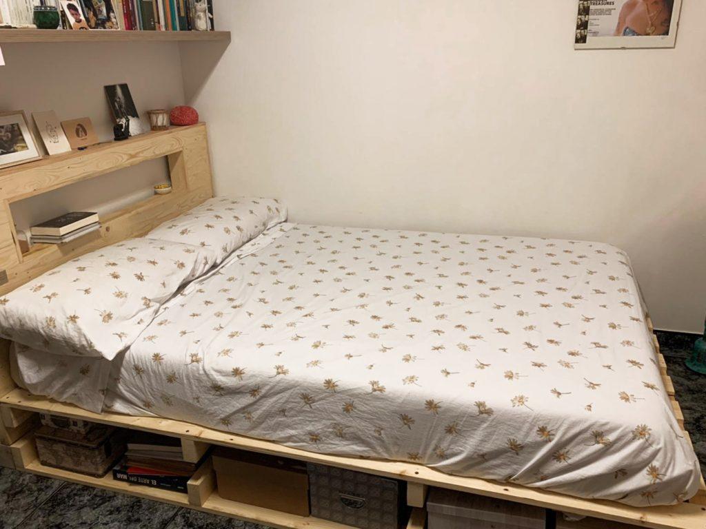 cama con palets