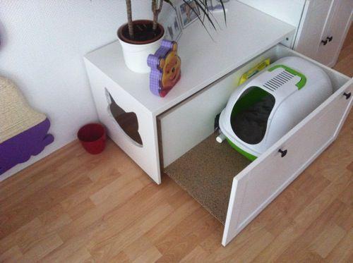 mueble arenero para gatos