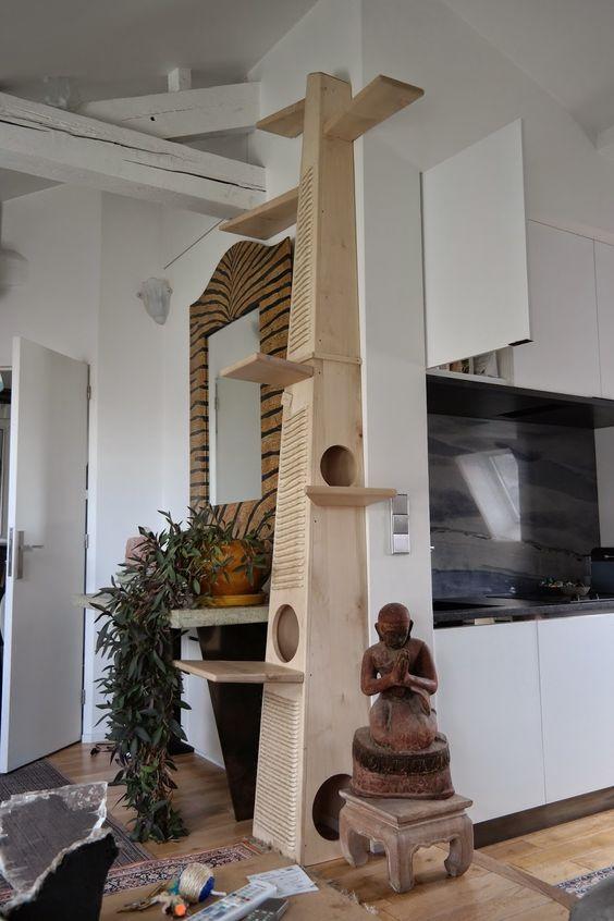 muebles con palets para gatos
