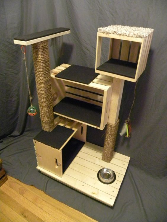 muebles para gatos hechos con palets