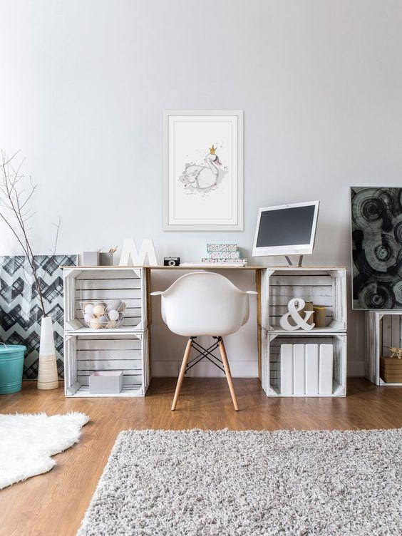 muebles con cajas de madera