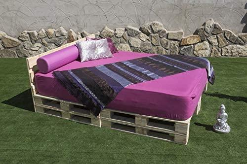 cama con palets de matrimonio