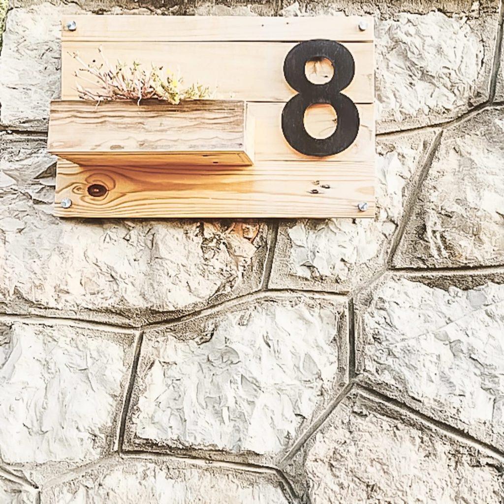 placa con número para casa